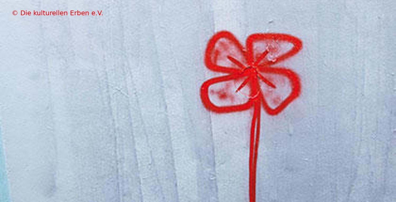 rote Blume, Graffiti